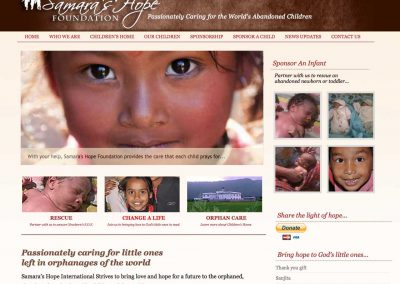 Samara's Hope Wordpress Website