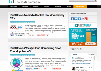 ProfitBricks Wordpress Blog