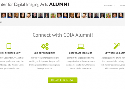 CDIA Alumni Prototype Wordpress Website