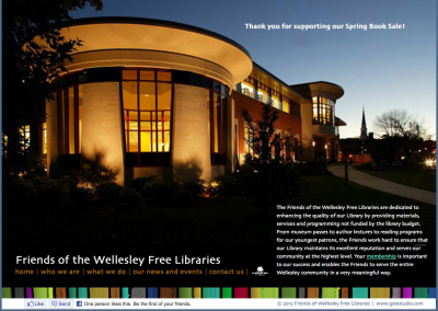 Friends Of Wellesley FREE Libraries Joomla Website