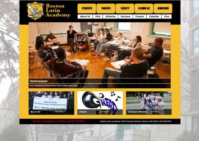 Boston Latin Academy Wordpress Website