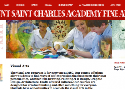 MSC Fine Arts School Website