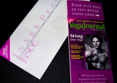 Yoga Journal Direct Mail Package
